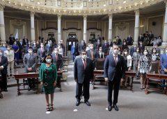 Acude el gobernador Barbosa a la instalación de la LXI Legislatura